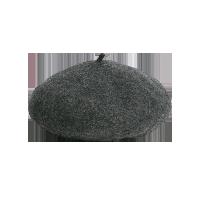 日系羊毛百搭贝雷帽麻灰