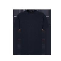 男式重磅全棉宽松落肩短袖T恤衫藏青*S(落肩版型,上身效果非常宽松,介意者可拍小一码)