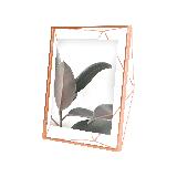立體菱形相框玫瑰金10寸