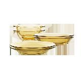 琥珀耐热玻璃餐具6件套6件套(碗*2+深盘*2+浅盘*2)