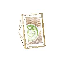 立體菱形相框金色7寸