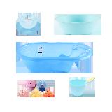 冬日暖洋洋 宝宝洗澡大礼包蓝色