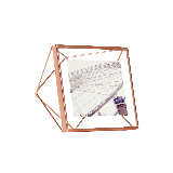 立体菱形相框玫瑰金4寸