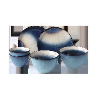 星空窑变釉陶瓷餐具6件套【6件套】饭碗*2+面碗*2+餐盘*2