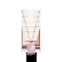 韩国设计 14K玫瑰金珍珠母贝项链母贝项链