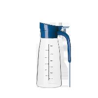 簡雅防滴漏玻璃調味瓶雅藍