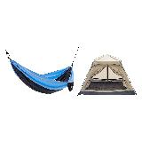家庭公园郊游装备套装郊游3-4人帐篷(沙漠驼)+吊床