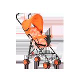 儿童卡通轻便推车伞车粉橘(狐狸)