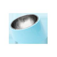 寵物不銹鋼圓形傾斜餐碗BB藍-S號