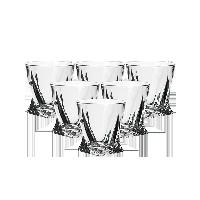 捷克制造 水晶玻璃威士忌酒杯340ml六只装
