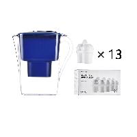 年購裝 凈水壺+濾芯超值套組【年度版-藍色】1壺13芯(適用9~13個月)