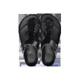 夹脚式凉拖鞋黑色*37