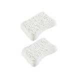 泰國制造 護肩舒眠 抗菌天然乳膠枕2個裝