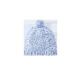 全棉毛球针织帽水雾蓝*6-12月