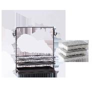素风海绵抹布沥水收纳架超值组(收纳架+洗碗刷)