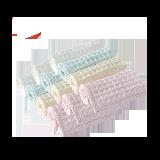 囤货装 婴儿华夫格小方巾12条装(白色+黄色+粉色+绿色)