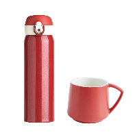 爆款水杯組合套裝情人紅+馬克杯