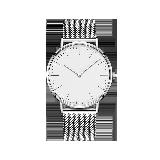 男式Classic蓝宝石镜面手表银边白底*银色钢带