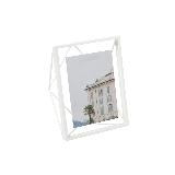 立體菱形相框白色10寸