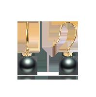 大溪地黑珍珠耳饰(多款可选)优雅挂钩款*8-9mm