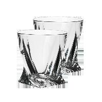 捷克制造 水晶玻璃威士忌酒杯340ml两只装