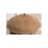 日系羊毛百搭贝雷帽驼色
