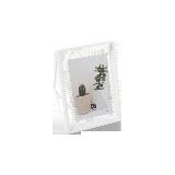 立體菱形相框白色7寸