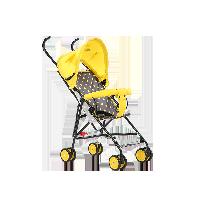 儿童卡通轻便推车伞车柠檬黄(小鸭)