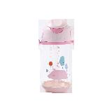 儿童背带便携水杯粉色