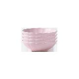 荷叶边哑光釉陶瓷餐具【4件装】4.25寸酱料碟