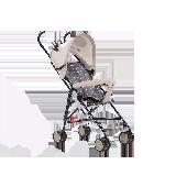 儿童卡通轻便推车伞车浅茶(刺猬)