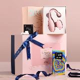 【520】春风亲密爱人礼盒延时环+浪花跳蛋+严选超薄避孕套 12只装