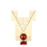 英国 玫瑰切割 14K金宝石项链石榴石项链