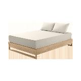 莱卡针织素色床笠  升级款浅卡其*1.8M床:180*200*28cm(适用厚度28cm以下的床垫)