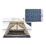 家庭公园郊游装备套装郊游3-4人帐篷(沙漠驼)+户外野餐垫