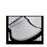 防紫外线宽檐遮阳帽淡雅灰