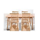 原素·实木温莎桌椅组合 1桌4椅原木色*1.4米餐桌+4把温莎椅