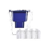 四重過濾 鎂離子凈水壺【季度版-藍色】1壺5芯(適用3~5個月)