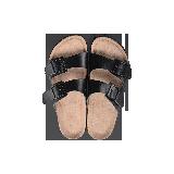 兩帶式軟木拖鞋黑色*44