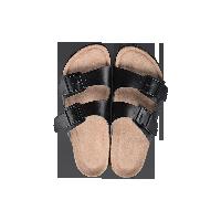 两带式软木拖鞋黑色*44