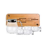 水滴壺 日式玻璃茶壺套組6件組:大號壺+茶杯*4+茶盤