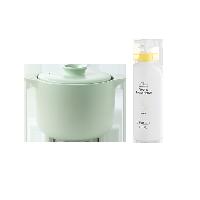 欧式双盖微压焖煮陶瓷煲【超值购】绿煲+39.9元佛手柑款餐具净