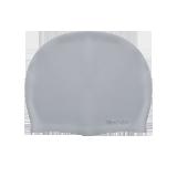 硅胶防水泳帽 (男女通用)银灰色