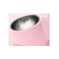 寵物不銹鋼圓形傾斜餐碗BB粉-M號