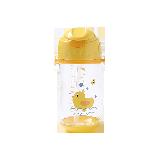 儿童背带便携水杯黄色