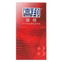 高邦天然膠乳橡膠避孕套,V3-旋紋10只