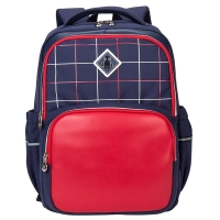 卡拉羊(Carany)小学生书包男女孩儿童书包1-3-5年级减负双肩背包 藏青配亮红