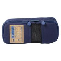 晨光(M&G)文具蓝色网格多功能多层大号笔袋文具盒收纳袋 单个装APB93599