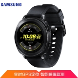 三星(SAMSUNG)Gear Sport运动手表 第二代智能手表 实时心率监测 GPS定位 兼容安卓和IOS 游泳防水 黑色