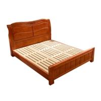沃盛 cp018实木床现代中式双人床胡桃色1800*2000